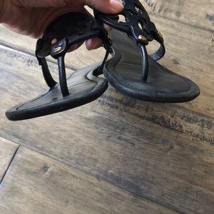Tory Burch Shoes - Tory Burch Black Miller Sandals matte black 9